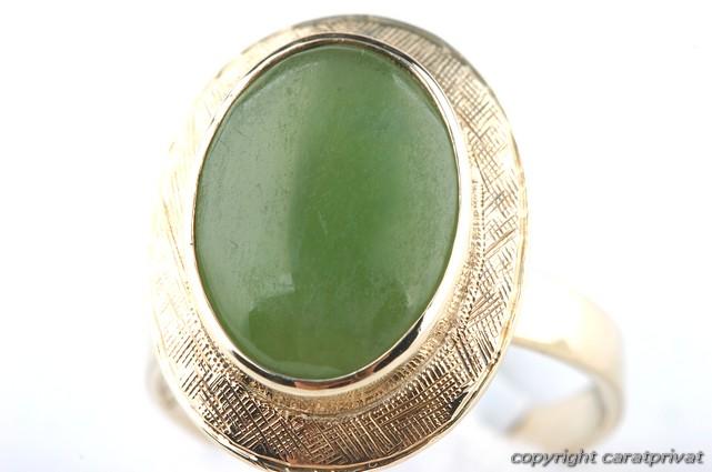gold ring 750 mit gr nem stein goldschmuck damenring. Black Bedroom Furniture Sets. Home Design Ideas
